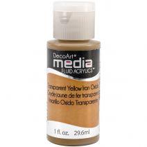 DecoArt Media Fluid Acrylics Paint 1oz-Transparent Yellow Iron Oxide (Series 2)
