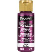 DecoArt Dazzling Metallics Acrylic Paint 2oz-Berry