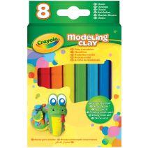 Crayola Modeling Clay .6oz 8/Pkg-Basic