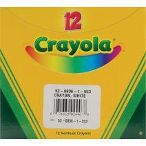 Crayola White Crayons-12/Pkg