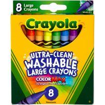 Crayola Large Washable Crayons-8/Pkg