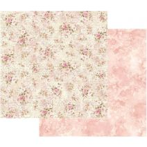 """Stamperia Double-Sided Cardstock 12""""X12""""-Shabby Roses & Writing"""