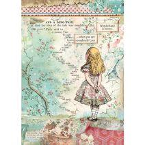 Stamperia Rice Paper Sheet A4-Alice