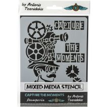 """Stamperia Stencil 5.90""""X7.87""""-Capture The Moments"""