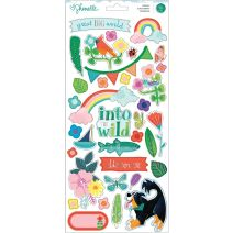 Shimelle Never Grow Up Cardstock Stickers 79/Pkg-W/Silver Foil Accents