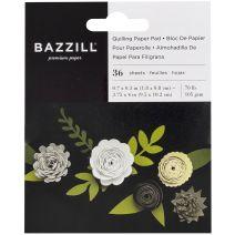Bazzill Quilling Paper Pad 36/Pkg-Neutral