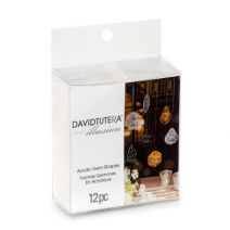 David Tutera Acrylic Gem Shapes - Clear