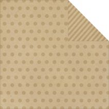 Say Cheese Collection 12 X 12 Double Sided Paper Kraft Dots