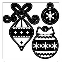 Christmas Craft Dies Stylized Ornaments