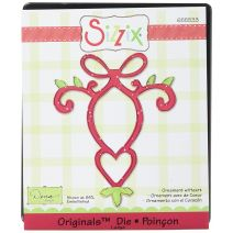 Sizzix Originals Die Christmas Collection Die Cutting Template Large Ornament With Heart
