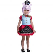 Peppa Pig Pirate Costume For Toddlers (2T)
