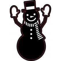 Christmas Craft Dies Snowman With Mittens