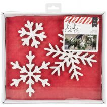 Oh What Fun Collection Christmas Glitter Wall Words Snowflakes