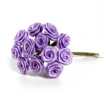 Ribbon Rose Bunch Lavender 0.5 Inch 12 Roses Per Bunch