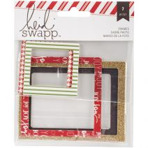 heidi Swapp Oh What Fun Collection Christmas Glitter Photo Frames