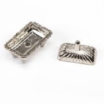 Timeless Minis Serving Tray Metal Silver 1.25 X 1 Inches