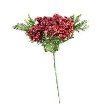 Mini Poinsettia Pick Glitter Red 5*8 Inches