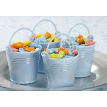 Favor Baby Bucket Blue 2.5 Inches 12 Pieces