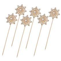 David Tutera Bouquet Jewelry Gold Starburst Bouquet Pins