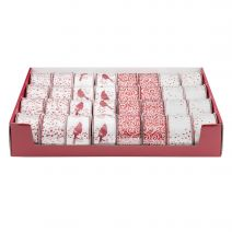Ribbon Assortments Red And White Christmas Ribbon 2.5In X 25 Feet