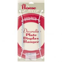 Decorative Plate Display Hanger Expandable 7.5 Inches To 9.5 Inches White