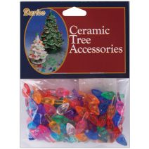 Ceramic Christmas Tree Accessories Small Twist Pin Multi Color 0.5 Inch