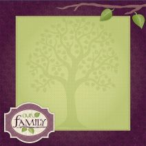 Scrapbook Paper 3D Family 12 X 12 Inches