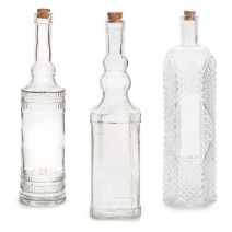 Darice Glass Bottle with Cork Clear Assorted 12 Inches