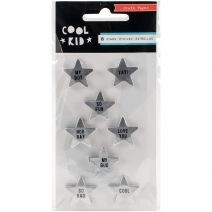 Cool Kid Collection Res Stars Metallic Silver